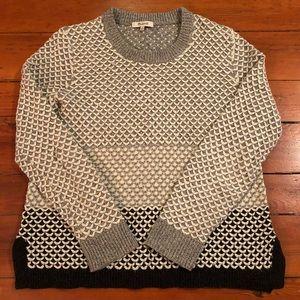 Madewell Scallop Detail Multi Gray Sweater sz M